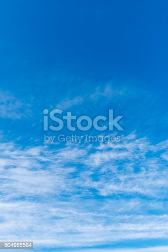 istock Beautiful sky with white cloud.  Background 504985564