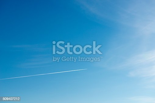istock Beautiful sky with white cloud.  Background 509407212