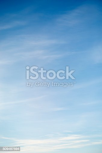 istock Beautiful sky with white cloud.  Background 509487594
