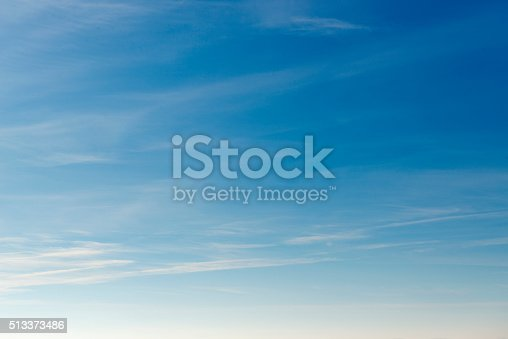 istock Beautiful sky with white cloud.  Background 513373486
