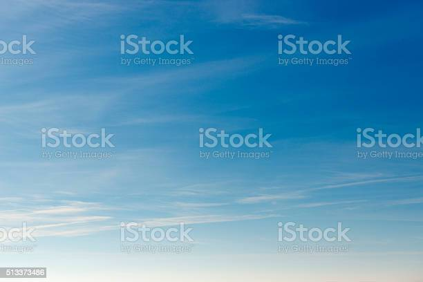 Photo of Beautiful sky with white cloud.  Background