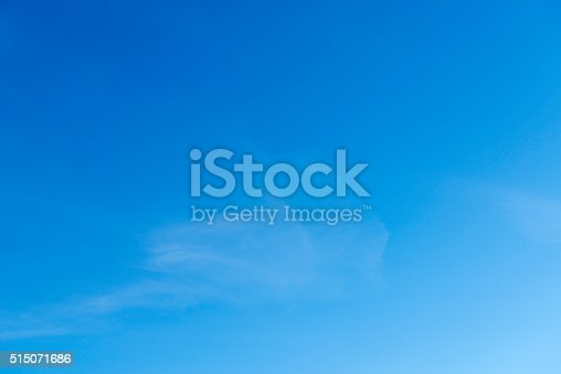 istock Beautiful sky with white cloud.  Background 515071686