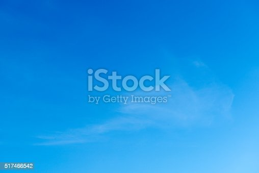 istock Beautiful sky with white cloud.  Background 517466542