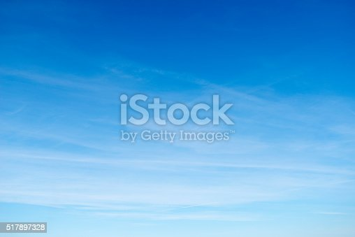 istock Beautiful sky with white cloud.  Background 517897328