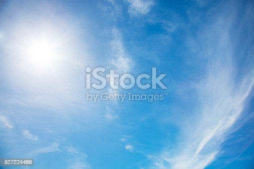istock Beautiful sky with white cloud. Background 527224486