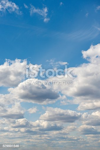 istock Beautiful sky with white cloud.  Background 529991546