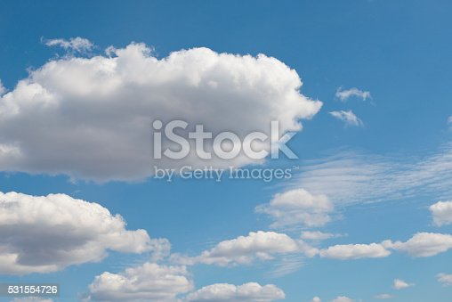 517897328istockphoto Beautiful sky with white cloud.  Background 531554726