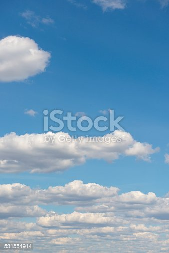 istock Beautiful sky with white cloud.  Background 531554914