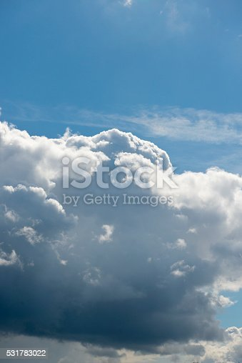 istock Beautiful sky with white cloud.  Background 531783022