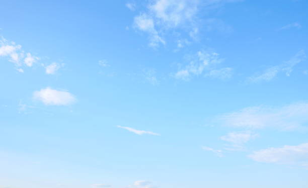 beautiful sky with white cloud - skies stock photos and pictures