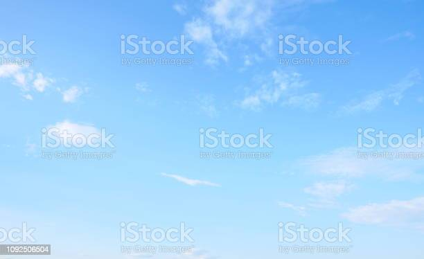 Photo of Beautiful sky with white cloud