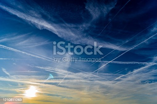 175385716 istock photo Beautiful sky with white clouds 1210811263