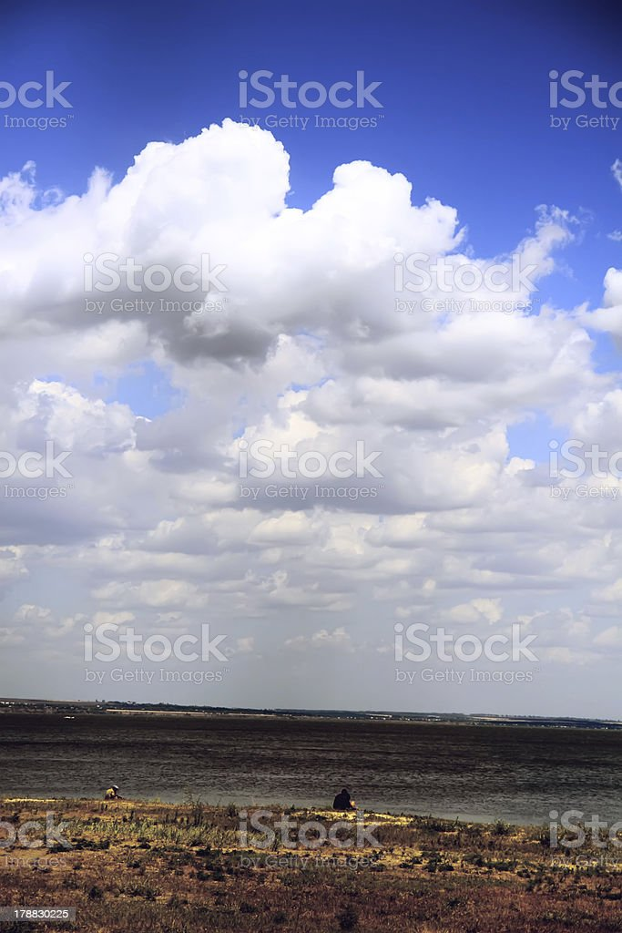 Beautiful sky with white clouds. royalty-free stock photo