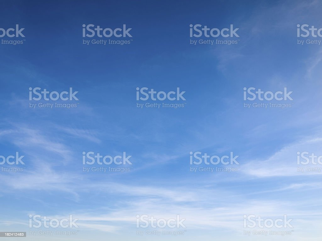 Beautiful sky with white clouds stock photo