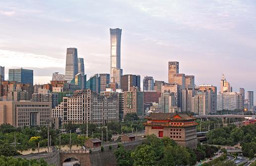 Beautiful skyline in Beijing,China
