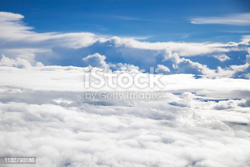184857129istockphoto Beautiful Skyline View above the Clouds from air plane 1132790186