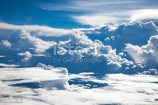 184857129istockphoto Beautiful Skyline View above the Clouds from air plane 1132790192