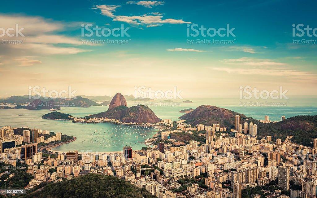 Beautiful skyline view of Rio de Janeiro stock photo