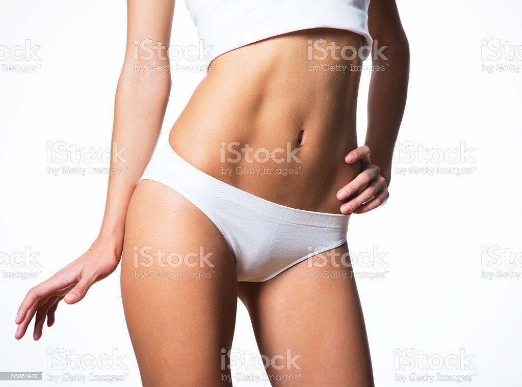 Schönen schlanken Körper der Frau in Dessous – Foto