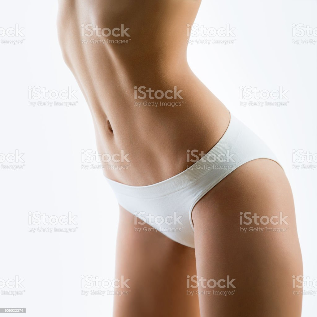Beautiful slim body of a woman stock photo