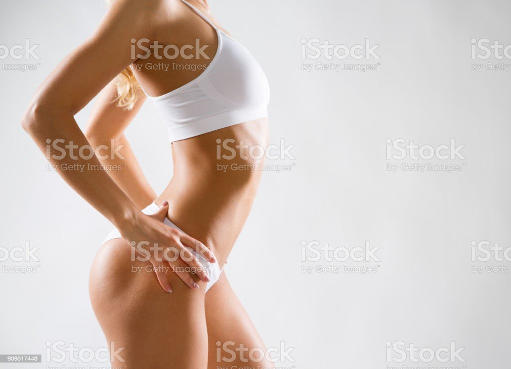 Schönen schlanken Körper der Frau – Foto