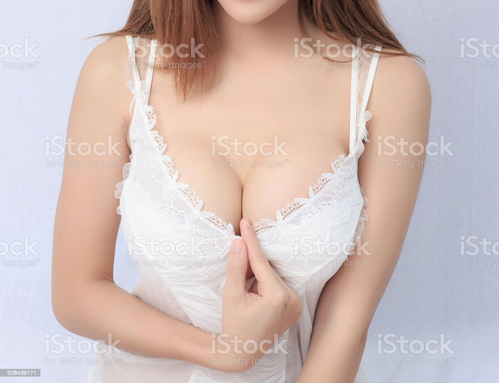 Beautiful slim body of woman stock photo