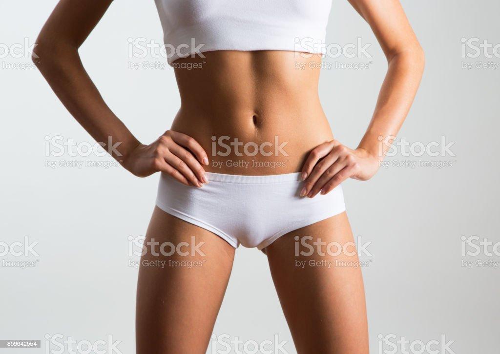 Beautiful slim body royalty-free stock photo