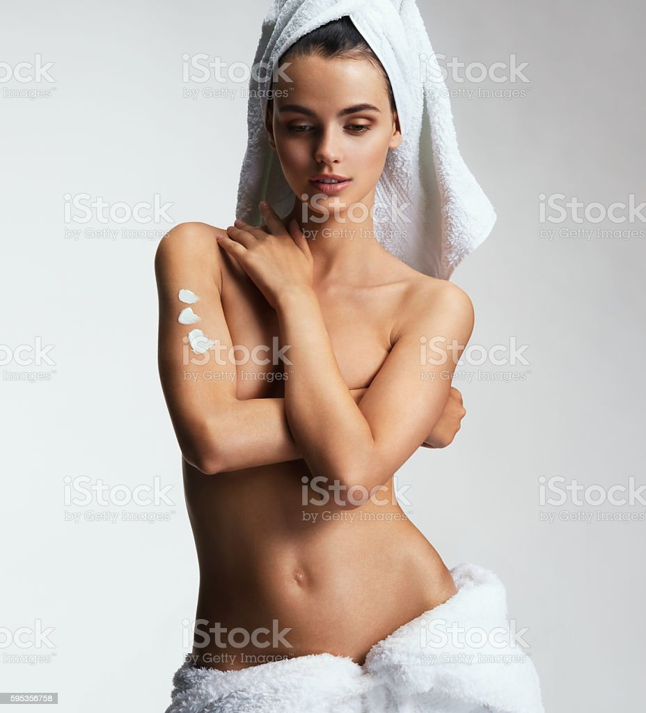 Beautiful slim girl's body stock photo