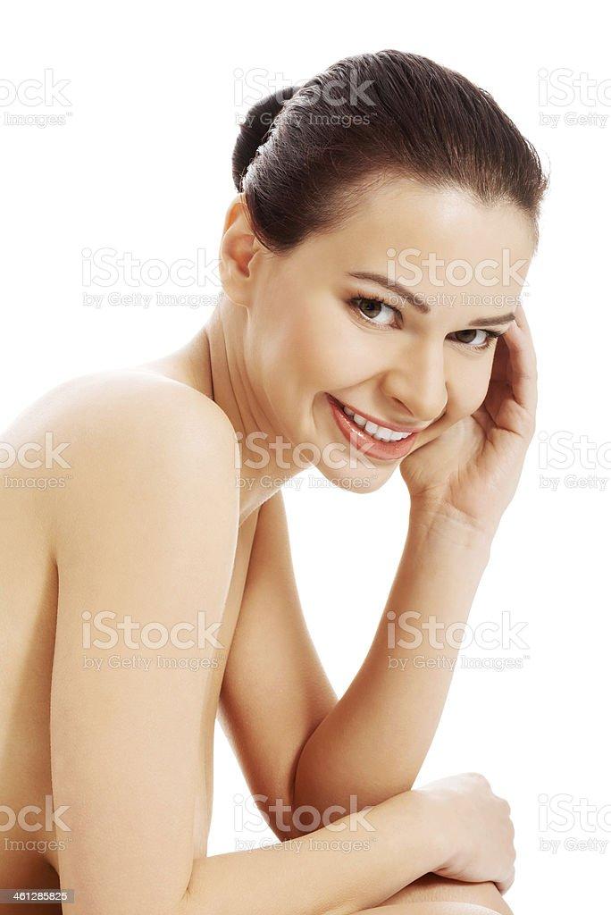 Maigre nue noir adolescent