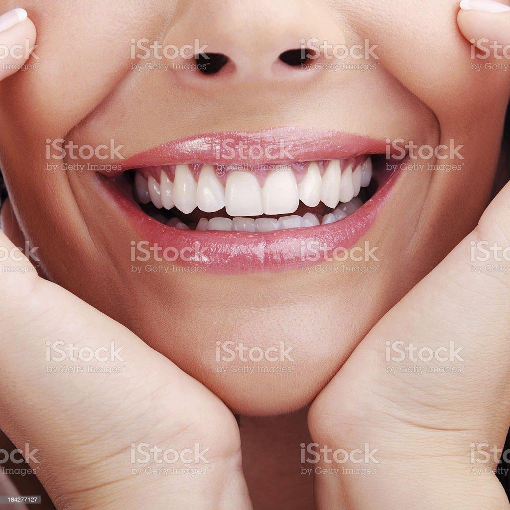 Schönen Lächeln - Lizenzfrei Eine Frau allein Stock-Foto