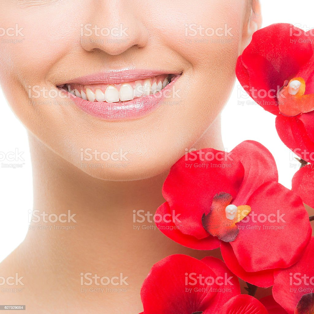 Beautiful smile stock photo