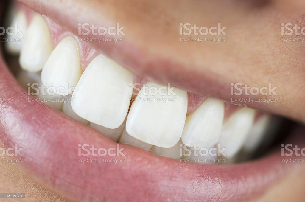 Beautiful Smile With White Teeth stock photo
