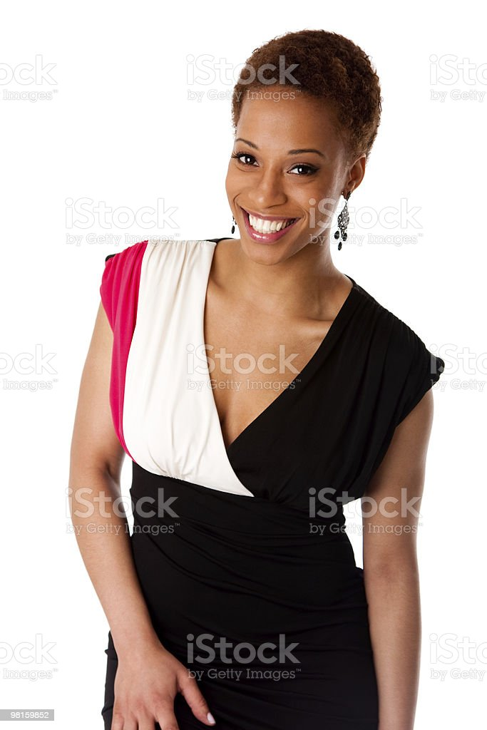 Beautiful smiling African business woman royalty-free stock photo