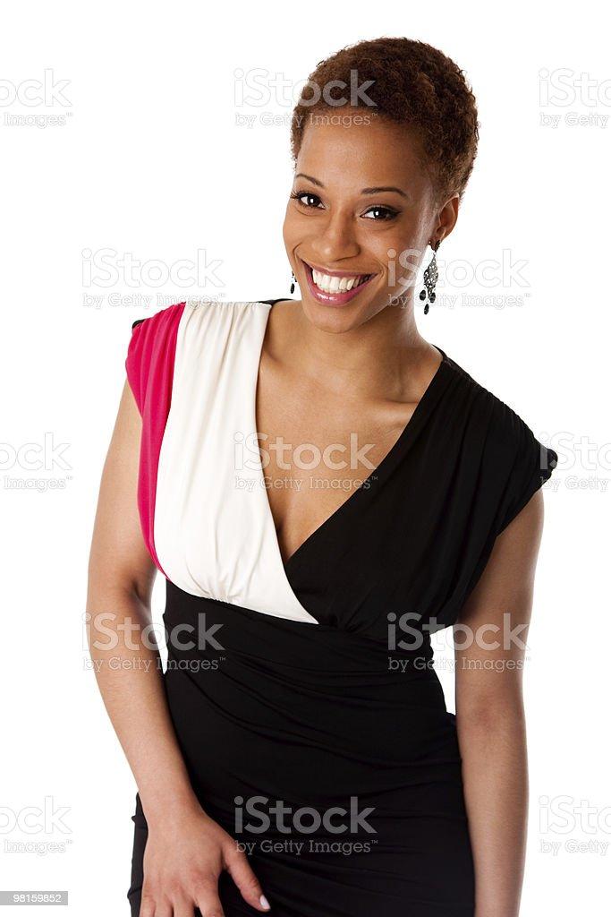 아름다운 웃는 중유럽식 비즈니스 여자 royalty-free 스톡 사진