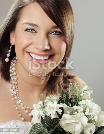 Portrait of a smiling bride.