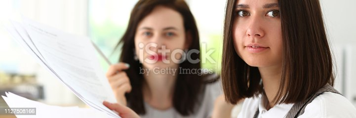 istock Beautiful smiling businesswoman portrait at 1127508166