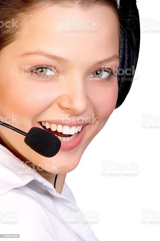 Beautiful Smiling Customer Service royalty-free stock photo