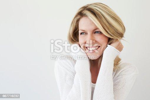 673361134 istock photo Beautiful smiling lady 667716232