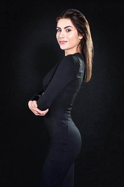 красивые улыбается бизнес женщина модели, - vlad models стоковые фото и изображения