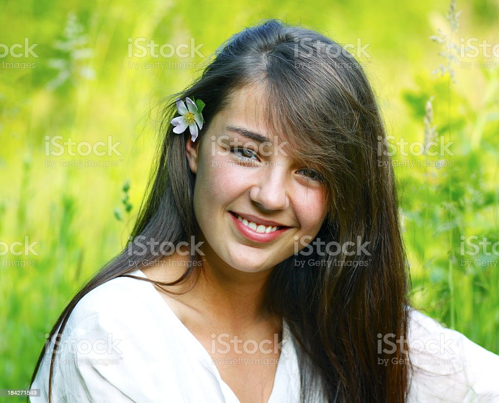Beautiful Smiling Woman Outdoors royalty-free stock photo