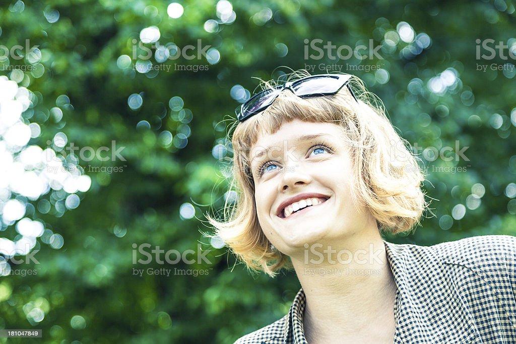 Beautiful smiling woman royalty-free stock photo