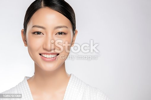 istock Beautiful smiling woman with clean skin 1089292068