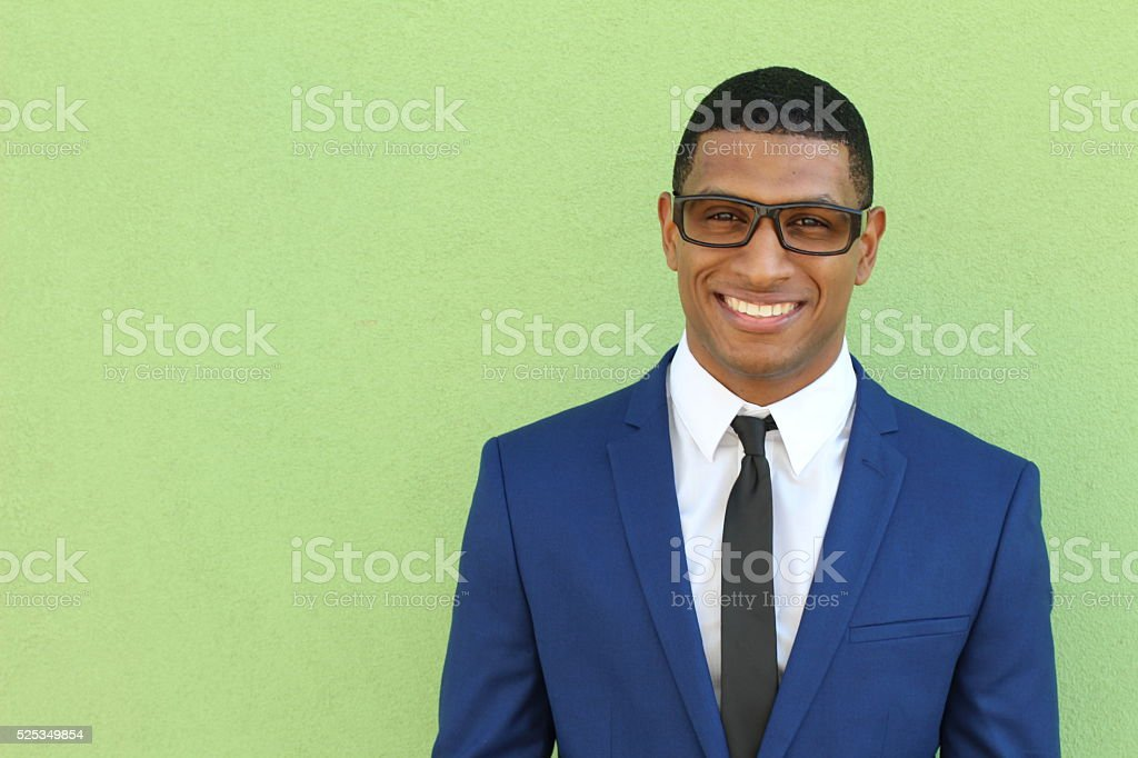 Beautiful Smiling Young African man Portrait stock photo
