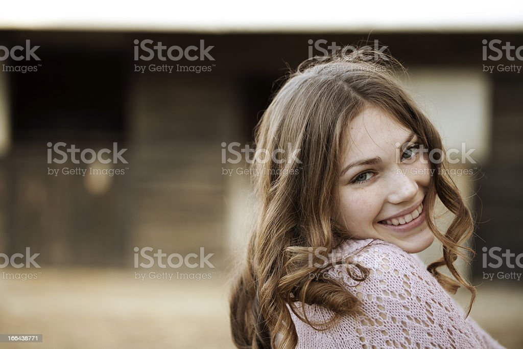 beautiful smiling young girl royalty-free stock photo