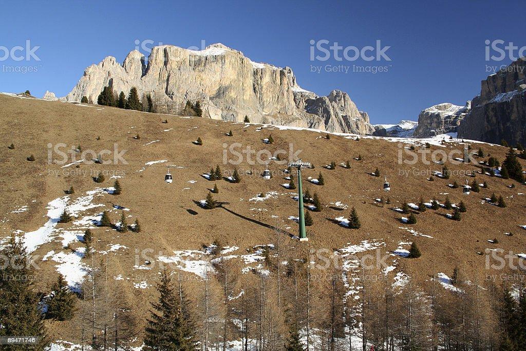 Nieve hermosa vista panorámica foto de stock libre de derechos