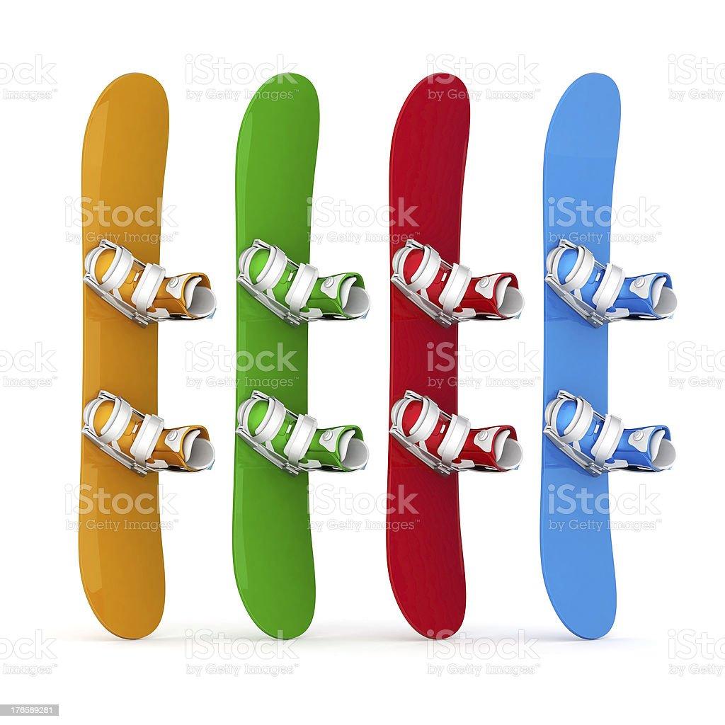 beautiful snowboard royalty-free stock photo