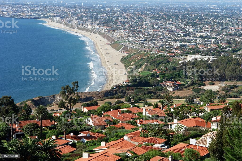 Beautiful South Bay California Coastline stock photo