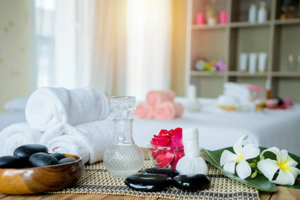 Hermoso concepto de composición de spa. - foto de stock