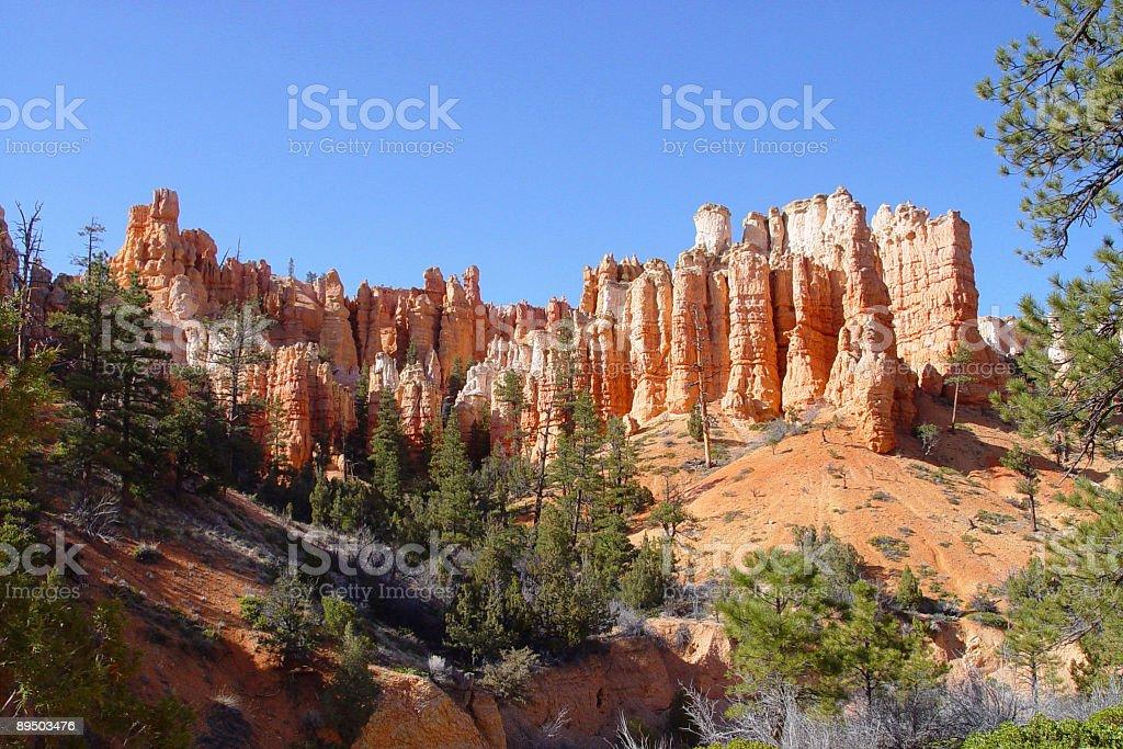 Beautiful spires of stone royalty free stockfoto