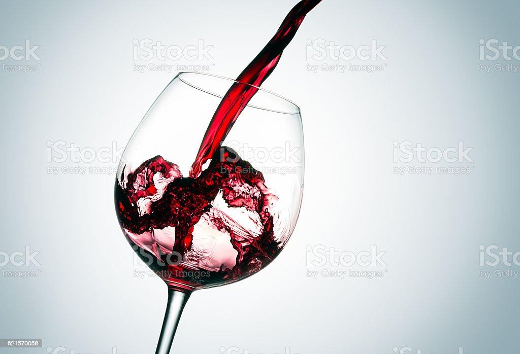 Beautiful splash of red wine photo libre de droits